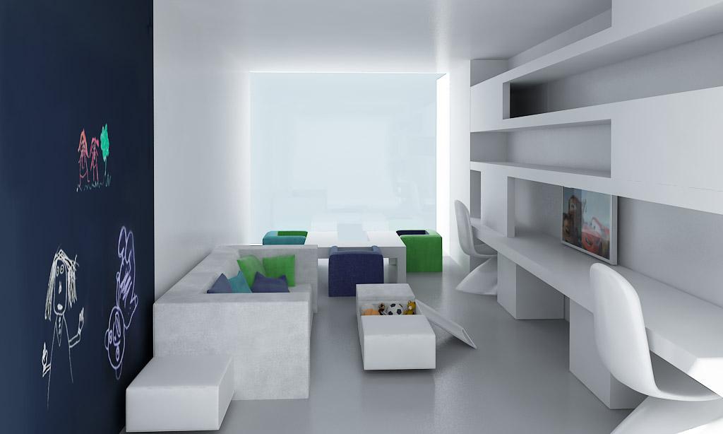 Interiores minimalistas a cero for Diseno interiores 3d